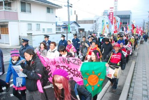 March in Koriyama City, March 11, 2011